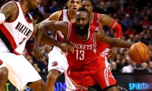 Trận đấu đầu tiên giữa Houston Rockets và Trail Blazers Portland