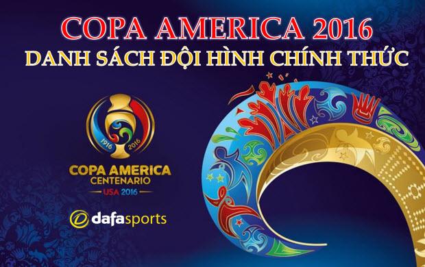 Copa America 2016: Danh sách đội hình chính thức của 16 đội tuyển