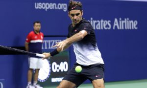 Roger Federer competes against Feliciano Lopez - US Open Tennis - Day Six - New York