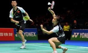 China Chen Xu and partner Jin Ma badminton