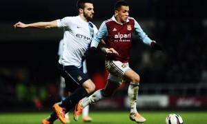 striker Alvaro Negredo Man City