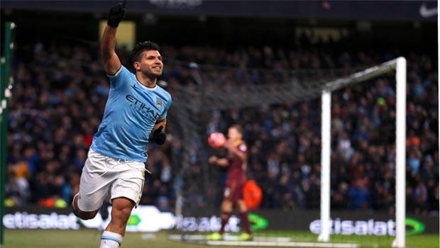 Chân sút hàng đầu Sergio Aguero của Manchester City