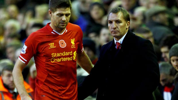 Brendan Rodgers and Steven Gerrard - Liverpool