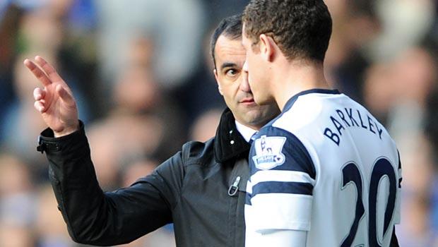 Roberto Martinez and Ross Barkley - Everton
