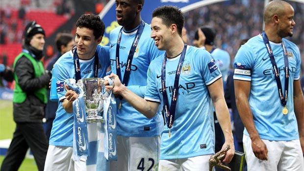 Tiền vệ Samir Nasri của Manchester City