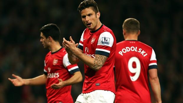 Olivier Giroud - Arsenal vs Everton
