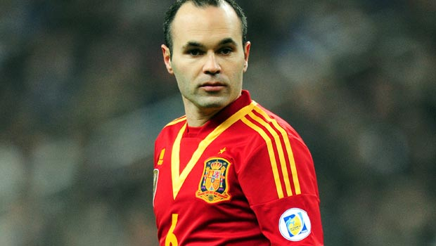 Andres Iniesta Spain World Cup 2014