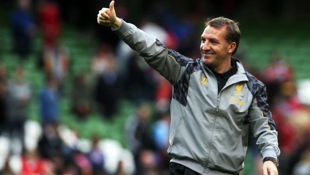 huấn luyện viên Brendan Rodgers cua liverpool