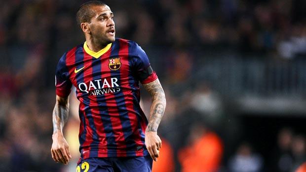 Hậu vệ Dani Alves của Barcelona