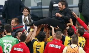 Huấn luyện viên Diego Simeone của Atletico