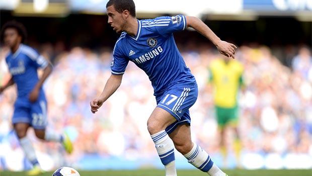 Cầu thủ chạy cánh Eden Hazard của Chelsea