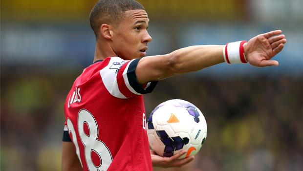 Hậu vệ Kieran Gibbs của Arsenal