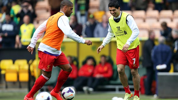 Luis Suarez and Glen Johnson World Cup 2014