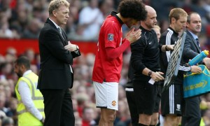 Tiền vệ Marouane Fellaini của Manchester United