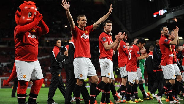Hậu vệ NemanjaVidic của Manchester United