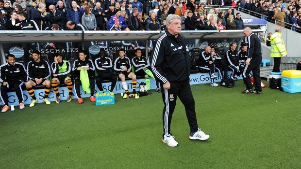 Huấn luyện viên Steve Bruce của Hull City