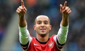 Ngôi sao hiện đang bị chấn thương của Arsenal là Theo Walcott