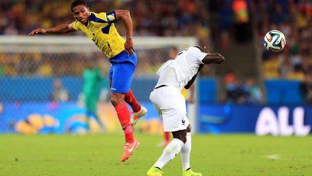Antonio Valencia Ecuador and Paul Pogba France