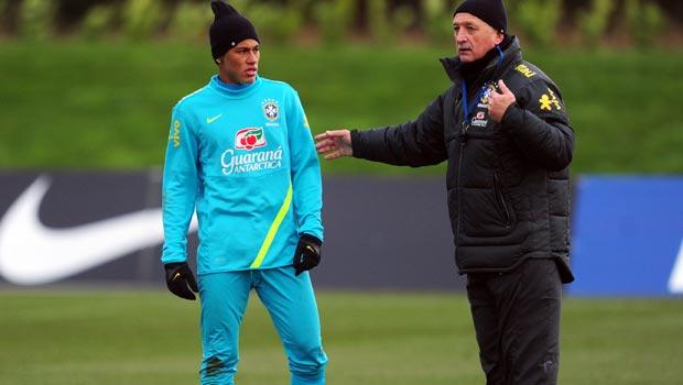Luiz Felipe Scolari and Neymar Brazil