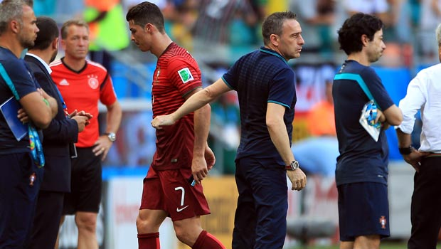 Paulo Bento and Cristiano Ronaldo Portugal