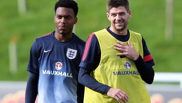 Steven Gerrard with Daniel Sturridge England world cup
