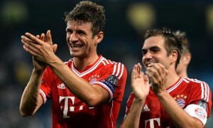 Thomas Muller and Philip Lahm Bayern Munich