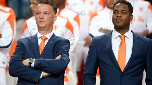 Patrick Kluivert and Louis Van Gaal