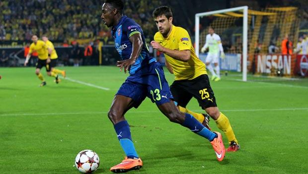 Danny Welbeck Arsenal v Borussia Dortmund