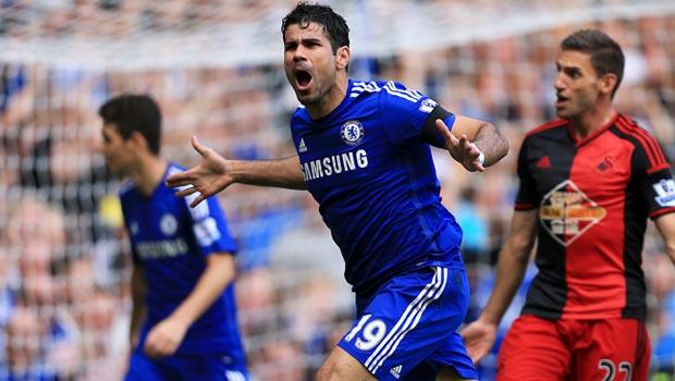 Diego Costa Chelsea v Swansea City