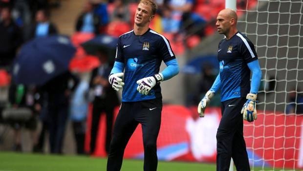 Joe Hart and Willy Caballero Manchester City