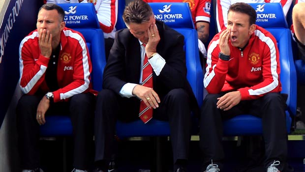 Louis van Gaal Manchester United v Leicester City