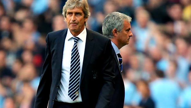 Manuel Pellegrini and Jose Mourinho