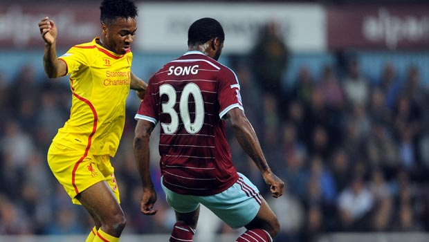 Raheem Sterling Liverpool v West Ham