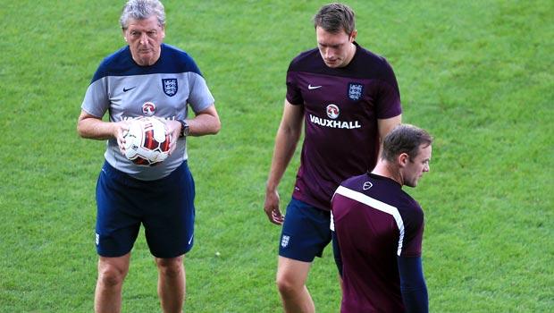 Wayne Rooney and Roy Hodgson England