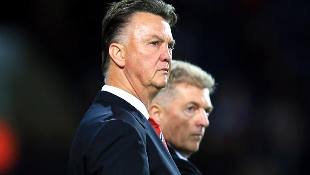 Man Utd Louis van Gaal and West Bromwich Jos van Dijk