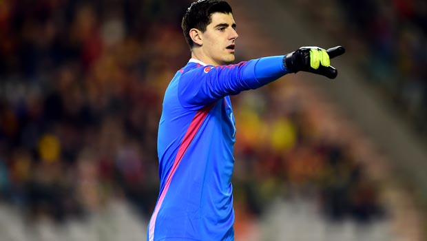 Chelsea keeper Thibaut Courtois