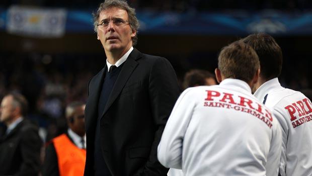 Paris Saint Germain manager Laurent Blanc