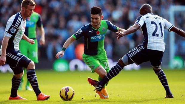 Remy Cabella Newcastle United West Bromwich Albion