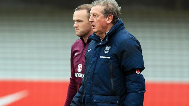 Roy Hodgson and Wayne Rooney England