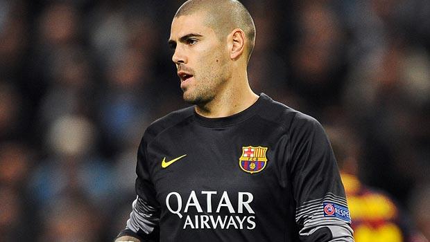 Victor Valdes Barcelona goalkeeper