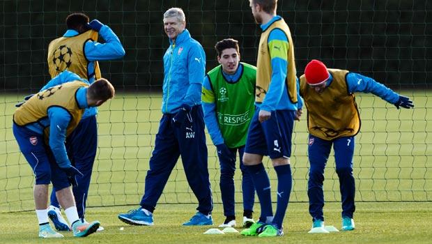 Arsenal boss Arsene Wenger Champions League