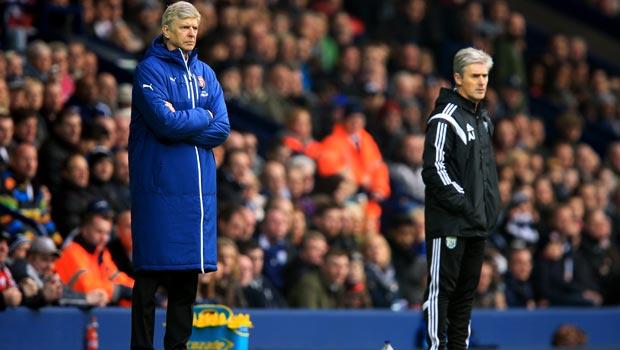 Arsene Wenger and Alan Irvine