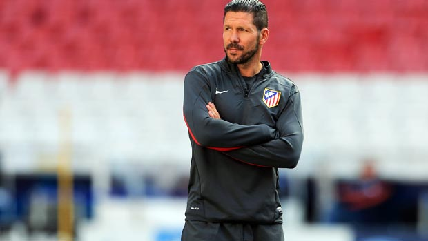 Atletico-Madrid coach Diego Simeone