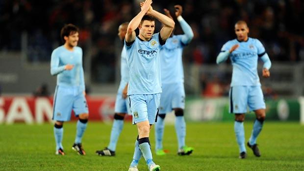 James Milner Manchester City v AS Roma