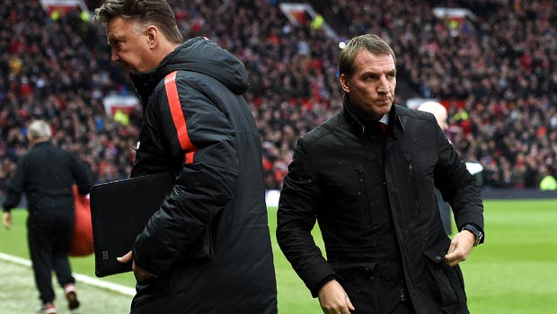 Man Utd boss Louis Van Gaal and Brendan Rodgers
