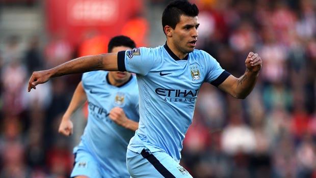 Manchester-City star striker Sergio Aguero