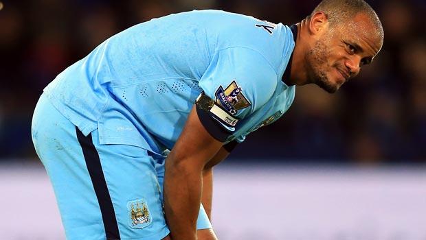 Vincent Kompany Manchester City v Leicester City