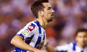 Deportivo-Coruna winger Isaac Cuenca