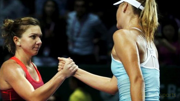 Maria-Sharapova-and-Simona-Halep-Brisbane-International