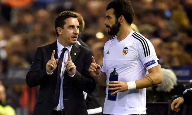 Valencia Las Palmas Gary Neville
